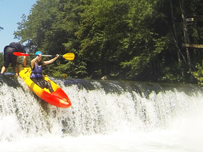 kayaking for families in Slovenia