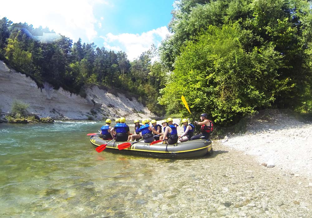 Rafting family tours in Slovenia