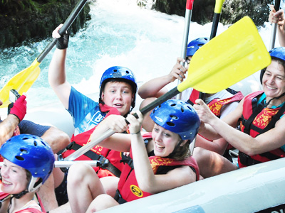 white water Rafting family trips in Slovenia
