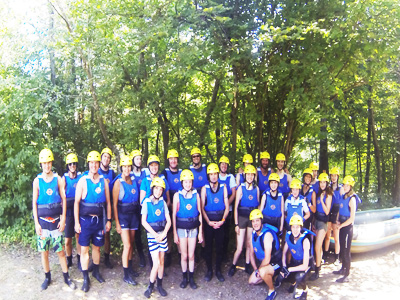 Book a rafting tour for your family during your stay in Ljubljana