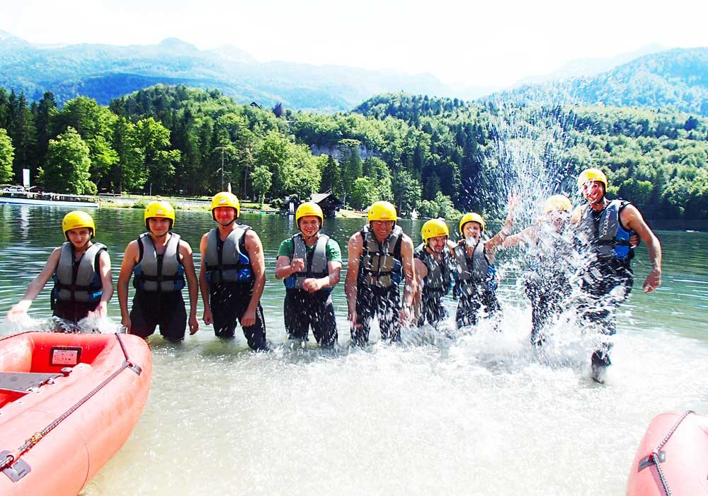 try mini rafting in Slovenia