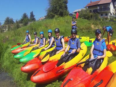 Kayaking tours close to Ljubljana